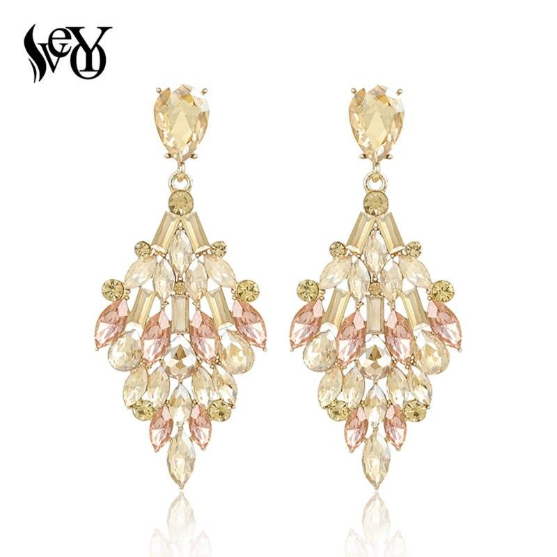 VEYO Crystal Earrings For Women Drop Earrings Vintage Luxury Earrings Brincos Pendientes High Quality