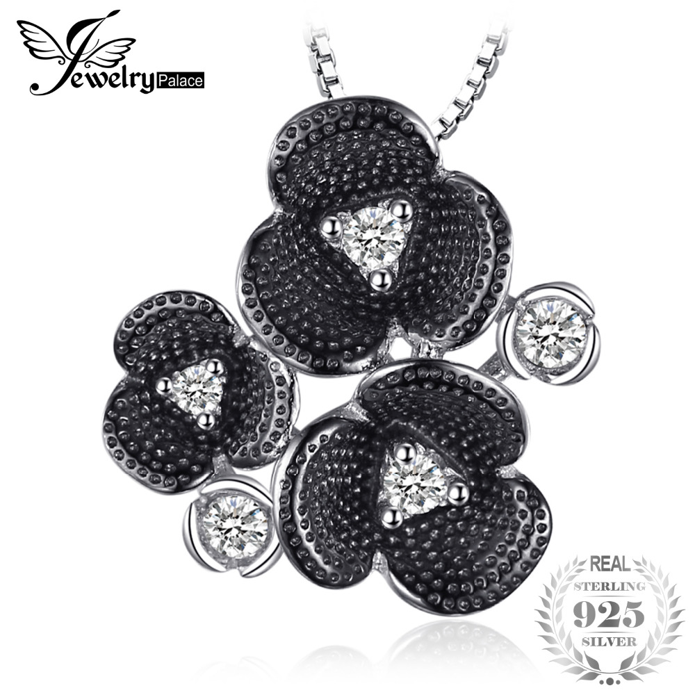 JewelryPalace Vintage 0.2ct Cubic Zirconia Flower Pendant 925 Sterling Silver Fine Jewelry Gift For daughter Not Include A ChainJewelryPalace Vintage 0.2ct Cubic Zirconia Flower Pendant 925 Sterling Silver Fine Jewelry Gift For daughter Not Include A Chain