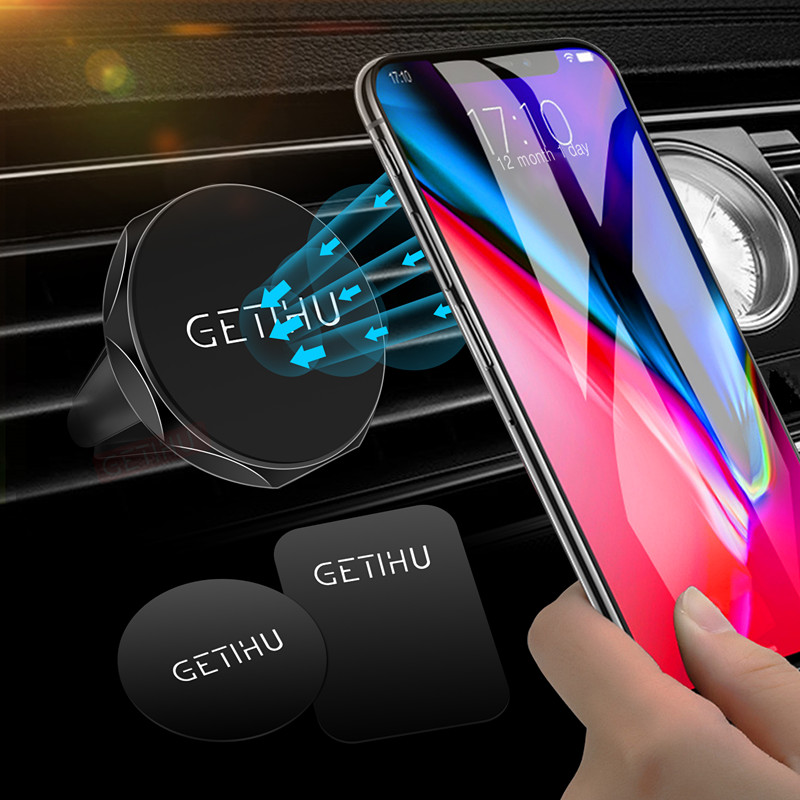 GETIHU Universal Magnetic Car Phone Holder Mini Air Vent Mount Magnet Mobile Holder For IPhone X 8 6 Ipad GPS Stand For Samsung