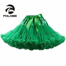 fff45df6e0 FOLOBE verde baile falda de cintura alta vestido de tul Tutu falda Ballet  Fiesta Falda Mujer adulto Faldas en Saias femeninas TT.