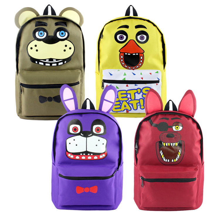 Cool new hot game backpack  Five Nights at Freddy horror game backpacks 4 styles gift for game fans daily use nylon bag ab245
