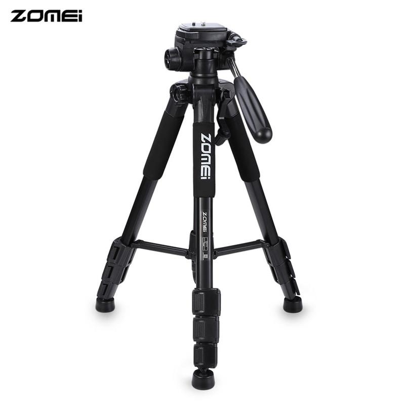 Prix pour D'origine chaude zomei q111 trépied professionnel portable pro en aluminium trépied caméra stand avec 3-way pan tête pour numérique dslr