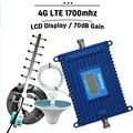 Pantalla LCD 4G LTE/GSM 1700 mhz Banda 4 de Doble Banda Móvil AWS 1700 Teléfono Móvil Celular Repetidor de señal Booster Amplificador Para EE. UU. CA
