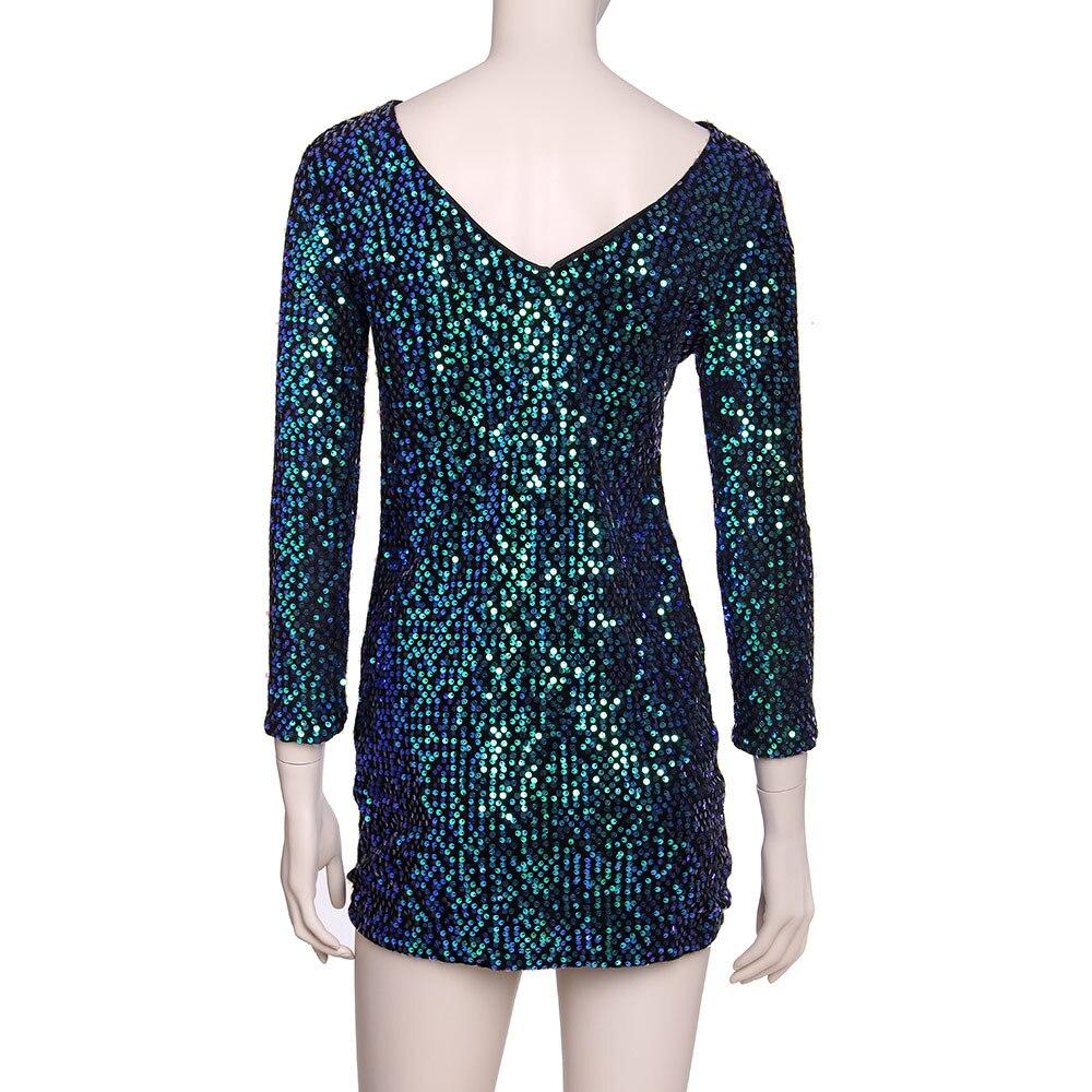 Πράσινο Φόρεμα Sequin Φόρεμα Γυναικεία - Γυναικείος ρουχισμός - Φωτογραφία 4