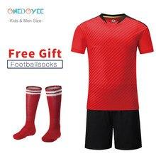 Новинка, детские футбольные майки «сделай сам», комплекты одежды для футбола для мальчиков, мужская футбольная форма с коротким рукавом, детский футбольный спортивный костюм, Джерси