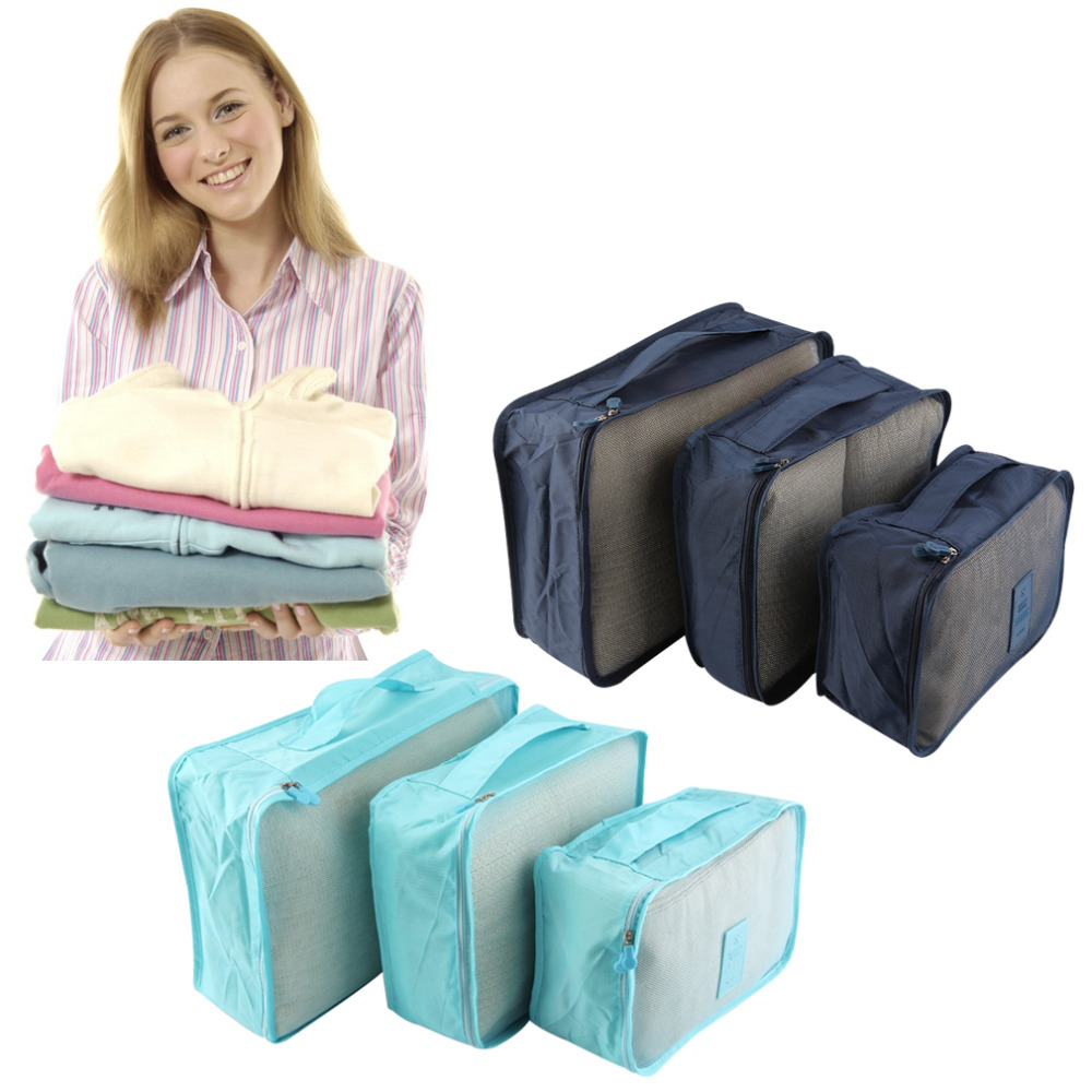6pcs/Set Quality Waterproof Clothes Storage Bag Portable Packing Cube Business Travel Luggage Storage Organizer High Capacity