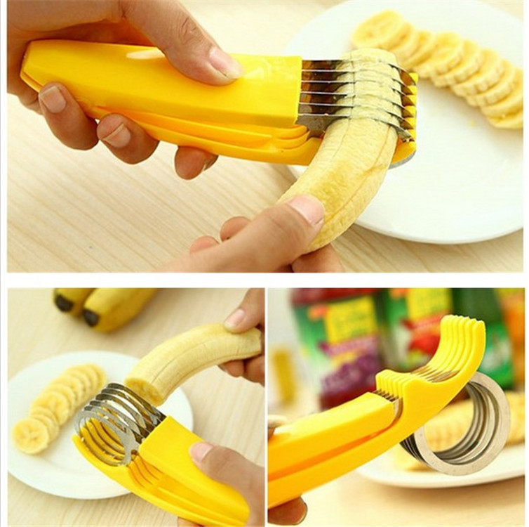 Kitchen Gadgets Slicer Cuisine Household Kitchen Appliances Lazy Life Practical Essential Gadget Cut Bananas