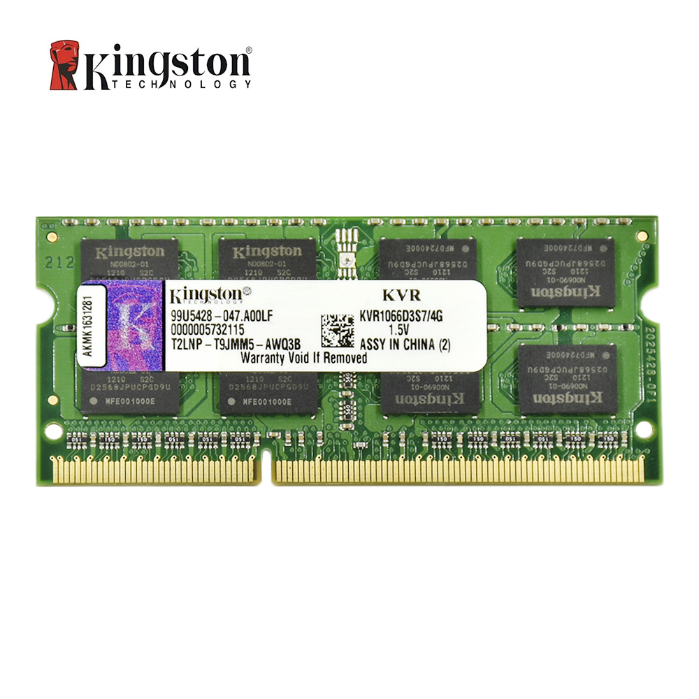 Kingston ram memory ddr3 2G 4GB 8GB 1333MHZ PC3-10600S 1600MHZ 12800S Memory DDR3 8 GB 204pin 1.5V Laptop Notebook SODIMM RAM