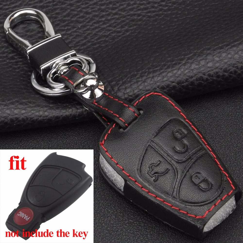 Remote 3 Buttons Car Key Case Cover Leather For Mercedes Benz A C E S ML CLK SLK CLS Smart Key