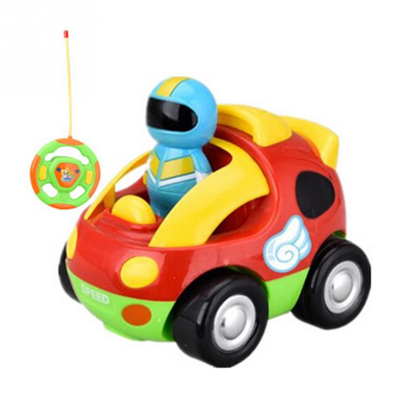 Cartoon RC Race Baby Car Radio Control Music Toy For Toddlers Children Gift