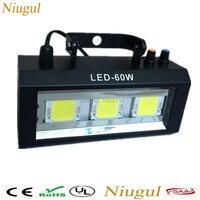 Niugul Alto brillo LED 60 W luz Estroboscópica Flash LED para DJ Disco Party KTV Luz estroboscópica lights home party KTV iluminación