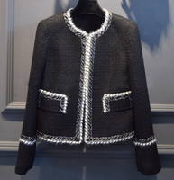 2016 jaqueta feminina, женское Элегантное зимнее пальто, потрясающее твидовое пальто, модные жакеты mujer, на заказ большие размеры XS 6XL abrigos mujer