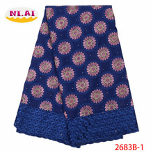 French Lace Fabric 2019 High Quality Swiss Voile Cotton Best Nigerian African Fabrics For Women Dress XY2683B-1