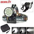 Boruit 7T6 14000Lms Head Light Headlamp 7x XM-L T6 LED Bicycle Bike Front Light Headlight luz bicicleta + 8800mAh Battery Pack