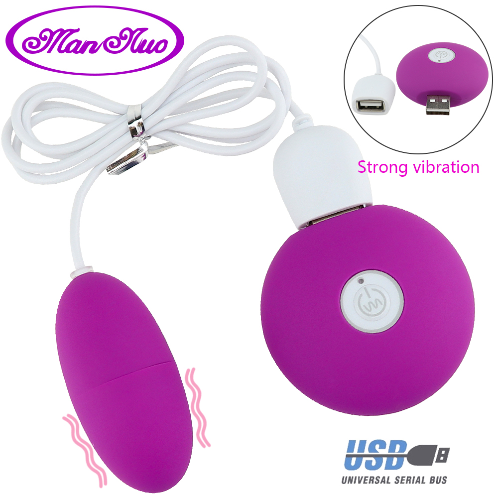 Man Nuo USB Charging Super Strong Vibration Egg Vibrators 10 Frequency Sex Toys For Women G-spot Vaginal Massager Adult Products
