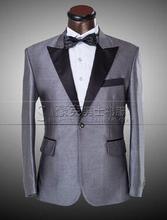 (suit+pant ) ! Men's Formal Dress Men's Blazer Bridegroom Suit Silver Wedding Dress party suit prom groom ! M-4XL free shipping