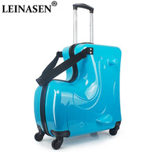 New Children Rolling Luggage Spinner 20 inch Wheels Suitcase Kids Cabin Trolley Student Travel Bag Cute Baby Carry On Trunk(China)