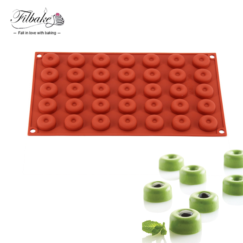 FILBAKE Kitchen Baking Accessories Cake Decorating 3D Silicone Moulds DIY 35 Cavity Small Round Hole Chocolate Molds Cake Mold