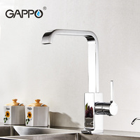 Gappo Elegant Chrome Brass Solid Kitchen Faucet Single Lever Tap Tall Sink Drinking Water Faucet Cold