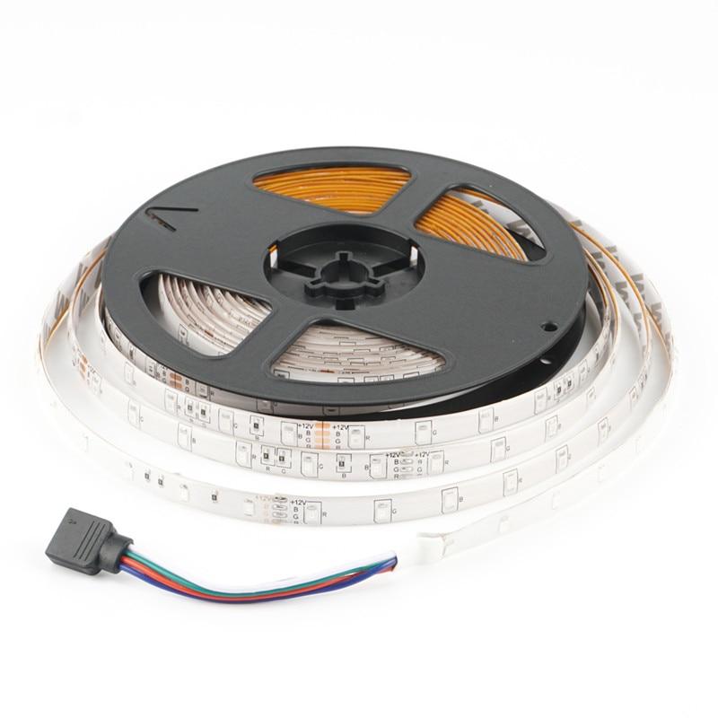 DC12V 5M LED Strip SMD2835 300 Leds RGB & Single Color High Quality Waterproof LED Ribbon Flexible Lights Free Shipping
