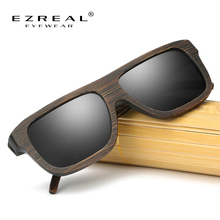 EZREAL Handmade Polarized Wood Sunglasses Retro Bamboo Frame Driving Sun Glasses Wooden Eyewear With Box #EZ029