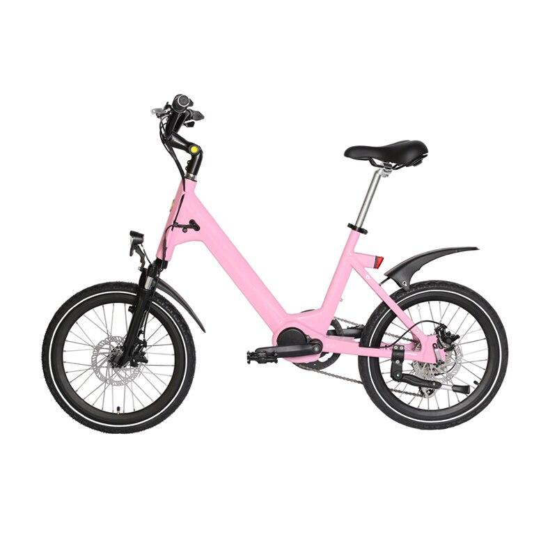 20 pouces lady s HER femme banlieue princesse vélo assistance électrique vélo Bluetooth connexion aluminium corps intelligent PAS Ebike