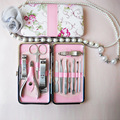 High Quality 12 Pcs 1 Set Pedicure Manicure Nail Clippers Cleaner Grooming Kit Case Tool Home Essential