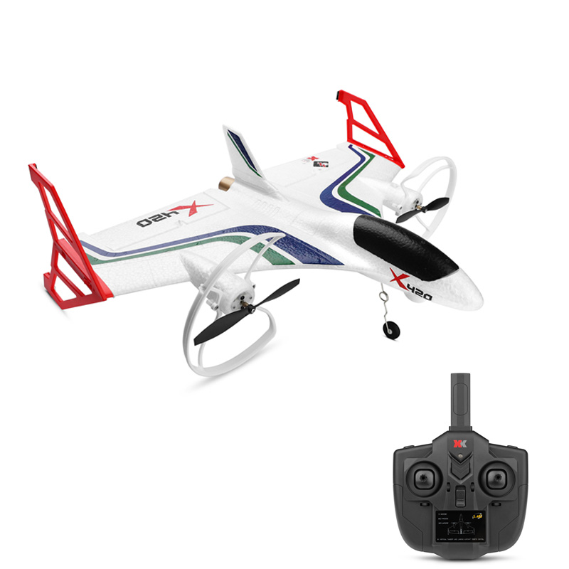 2019 New Wltoys Xk X420 RC Airplane 6CH 3d/6g Takeoff And Landing Stunt Remote Control Airplane image