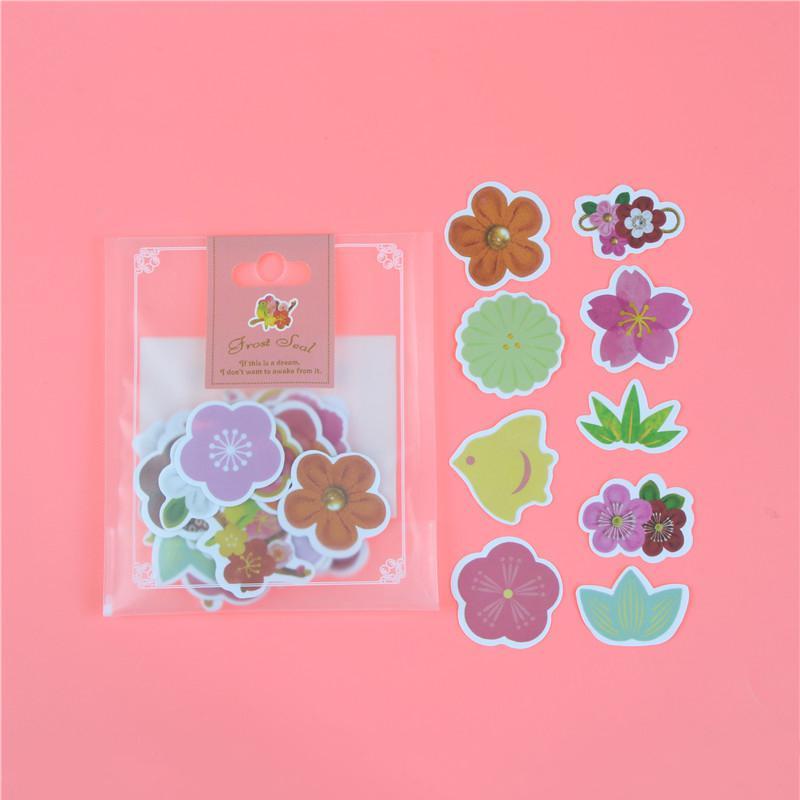 1 пакет, милые Мультяшные декоративные наклейки в Корейском стиле, клейкие наклейки, скрапбукинг, сделай сам, декоративные наклейки для дневника - Цвет: R