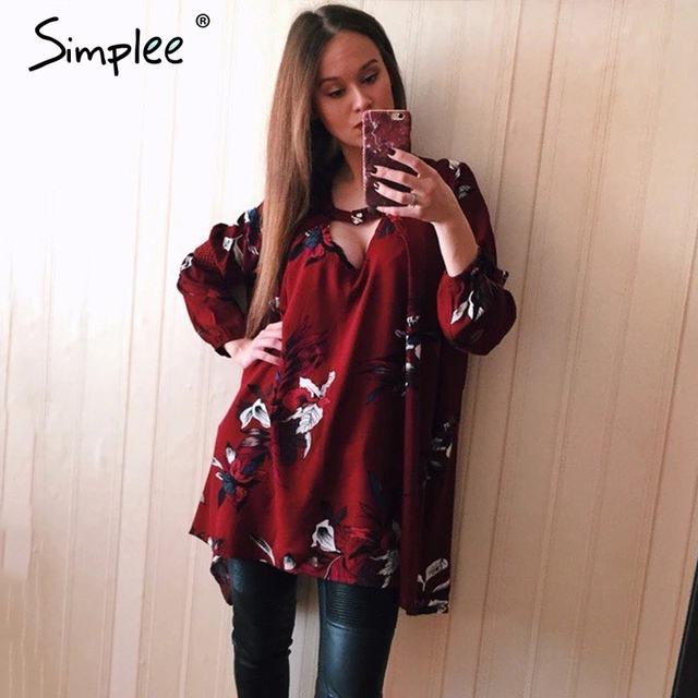 Simplee Vintage pleated boho women dress Sexy christmas hollow out loose dress 2016 Casual lantern sleeve floral short dress