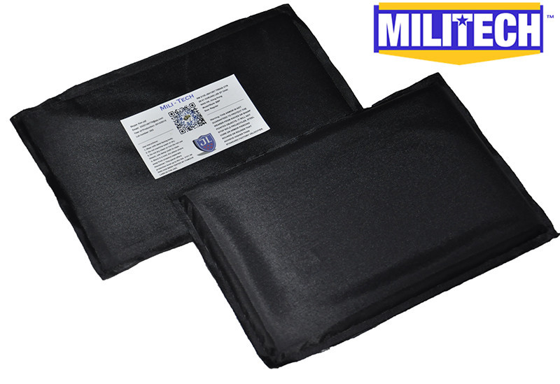 Bulletproof Aramid Ballistic Panel Bullet Proof Plate Inserts Body Armor Soft Side Armour Panel NIJ Level IIIA 3A 5'' x 8'' Pair