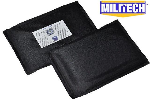 Bulletproof Aramid Ballistic Panel Bullet Proof Plate Inserts Body Armor Soft Side Armour Panel NIJ Level IIIA 3A 5'' x 8'' Pair