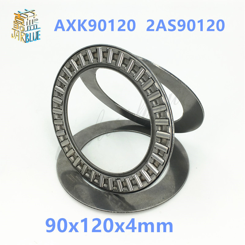 Free shipping 2pcs AXK series AXK90120  2AS90120 thrust needle roller bearing 90x120x4mm bearing  whosale and retail whirlpool dscx 90120