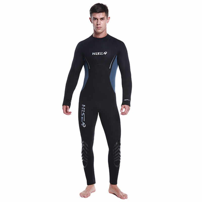 Мужской гидрокостюм 5 мм костюм во весь рост супер стрейч Дайвинг костюм Плавание Серфинг подводное плавание