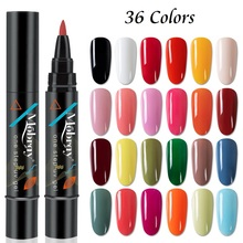 New Arrival One Step Nail Gel Polish Pen 3 in 1 Nail Art Manicure Soak Off UV Gel Polish Vernish Lacquer Women Nails Decoration xenon lampx7 80 170 for laser beauty machine 7x170mm