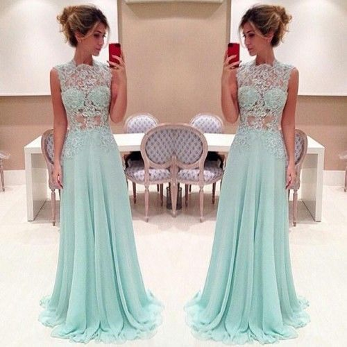 2015 Delicate Light Blue Prom Dresses Formal Dress Long Prom Gowns Custom Made