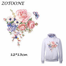 ZOTOONE Beautiful Flower Patches Ron on Transfer for Clothing T Shirt Beaded Applique Clothes DIY Accessory Decoration C