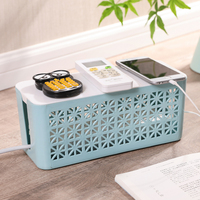 Practical Household Power Line Storage Organizer Socket Storage Box Wire Finishing Box Junction Charger Plug Plastic Container