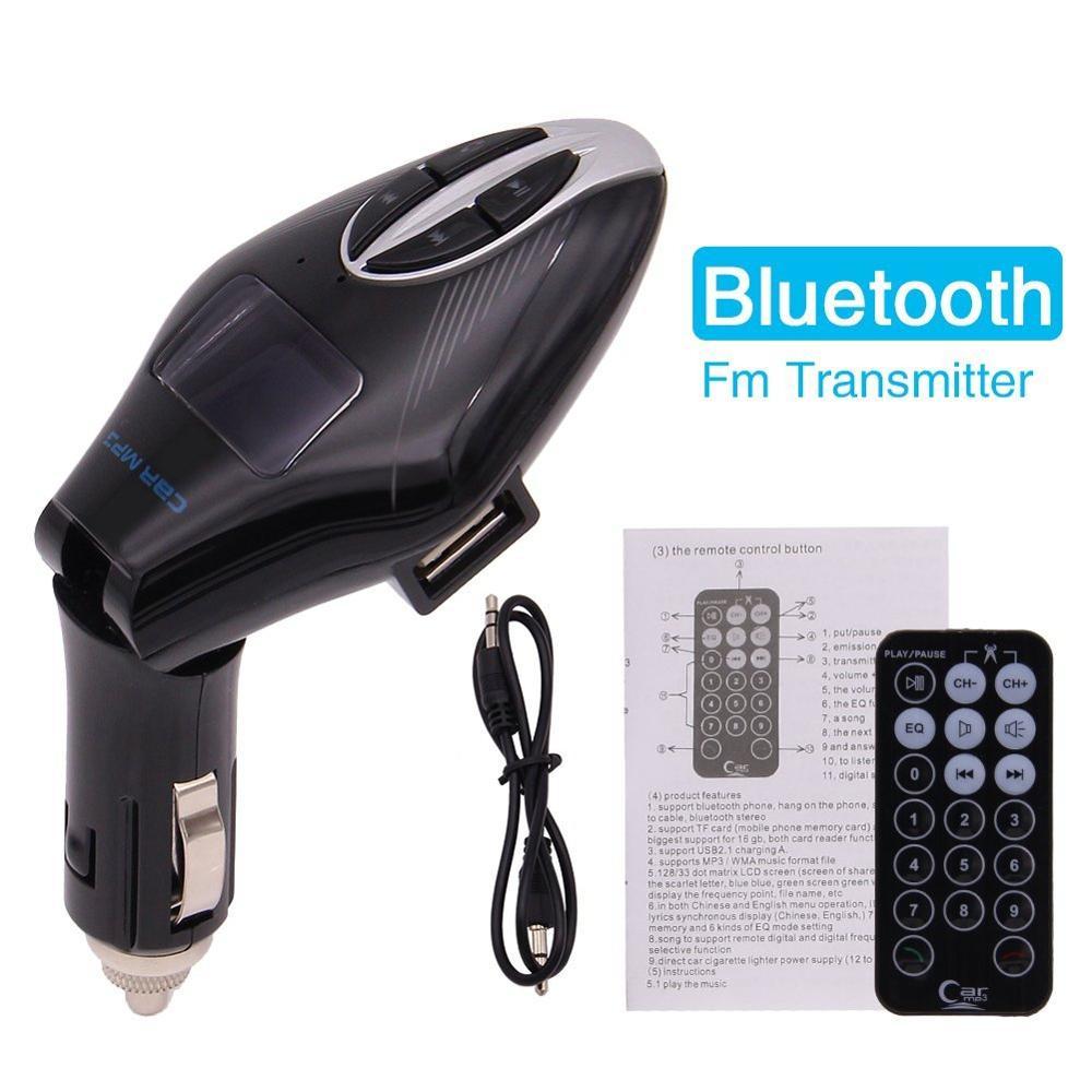 Bluetooth FM Transmitter font b Wireless b font In Car Radio Adapter Car Kit USB Car