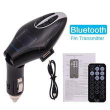 Bluetooth FM Transmitter Wireless In-Car Radio Adapter Car Kit  USB Car Charger for iPhone/iPad/Samsung MP3 Player TF Card Slot