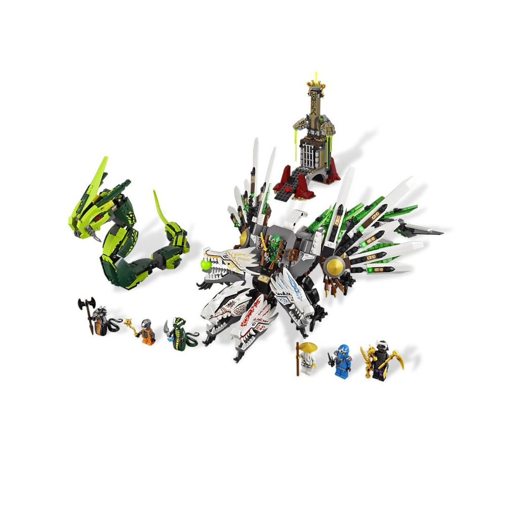 Compatible Legoe Ninjagoe 9450 911PCS Building Blocks toys for Childrens Bricks Model Kid gift Epic Dragon Battle bela 911pcs ninjagoes epic dragon battle building block set jay zx chokun minifigures kids toy compatible with legoes 9450
