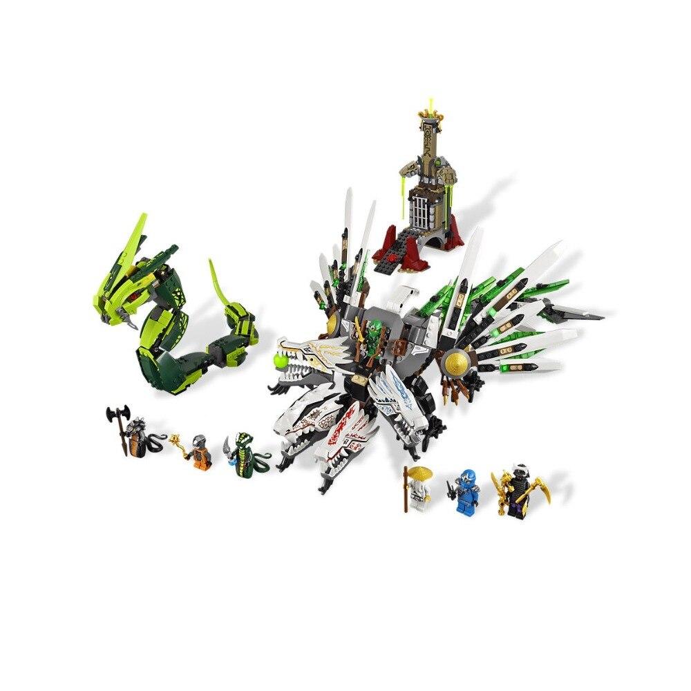 Compatible Legoe Ninjagoe 9450 911PCS Building Blocks toys for Childrens Bricks Model Kid gift Epic Dragon Battle