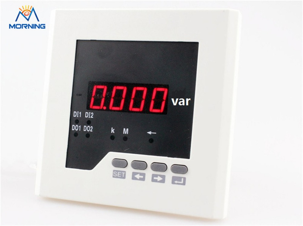 3Q21 3-phase size120*120mm low price led digital reactive power meter, for distribution box 3uif23 frame size 120 120mm 3 phase ac led digital combined meter for distribution box