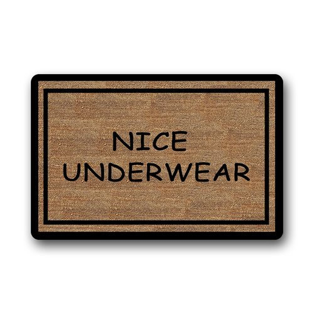 Warm Tour Funny Doormats Nice Underwear Custom Entryways