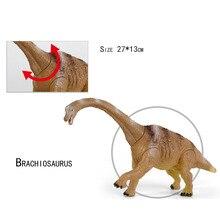 купить One Piece Big Brachiosaurus Toys Jurassic World Park Dinosaur animal Plastic Play PVC Action Figure Kids Toys дешево