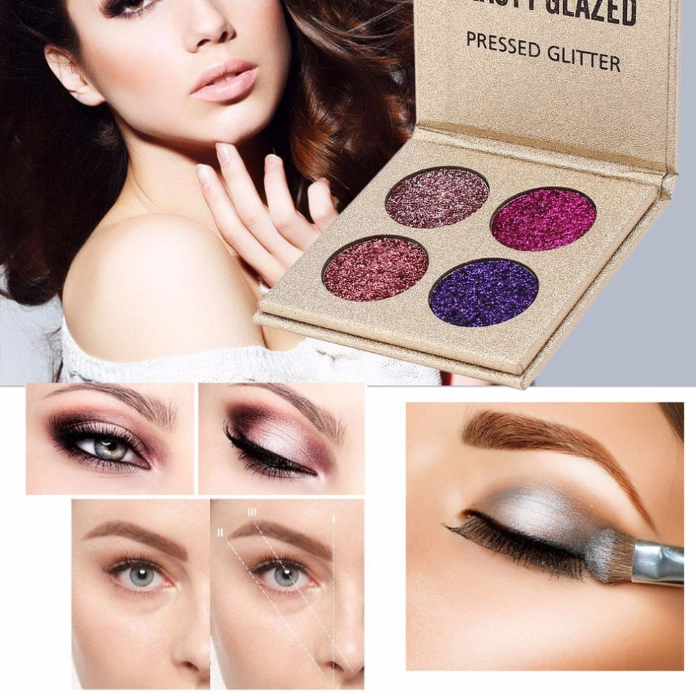 Kk Diamond Centre Kuching Kkdc Home: BEAUTY GLAZED 4Colors Pigment Glitter Eyeshadow Pallete