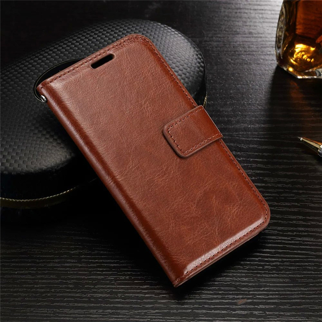 first rate 59a4c b30bc US $2.78 26% OFF|Vintage Retro Leather Case For Samsung j120 j120F Wallet  flip cover For Samsung galaxy J3 J5 J7 2017/6/5 case Phone Coque fundas-in  ...