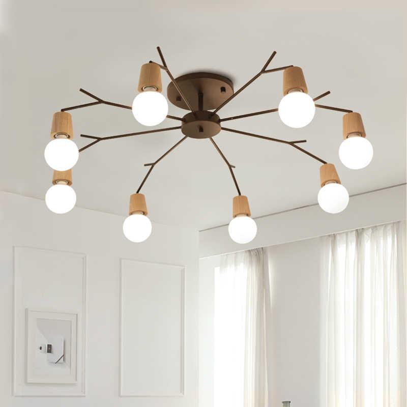 Деревянный потолочный светильник для гостиной, спальни, кухни, ресторана, люстра с изображением паука, лофт, промышленный винтажный домашний декор, люминесцентный блеск
