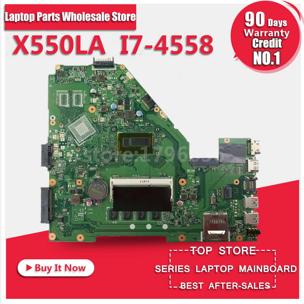X550LD REV2.0 With i7 CPU 4GB RAM HD 4400 motherboard For Asus A550L R510L X550LA X552L Y581L X550L K550L Laptop mainboard