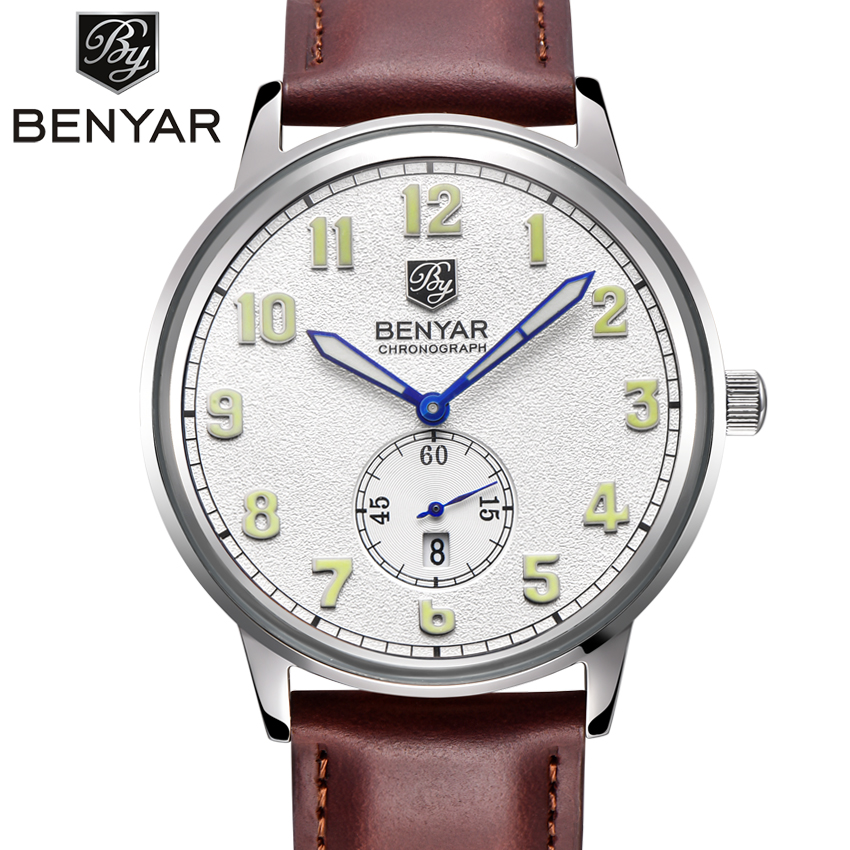 BENYAR Men Watches Top Brand Luxury Men's Military Wrist Watches Men Sports Quartz-Watch Waterproof Relogio Masculino Numerals